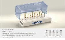 12PCS Dental burs preparation kit anterior posterior ceramics zirconia crown