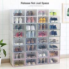 Transparent Plastic Shoe Organizer Door Flip PP Thicken Drawer Shoes Storage Box