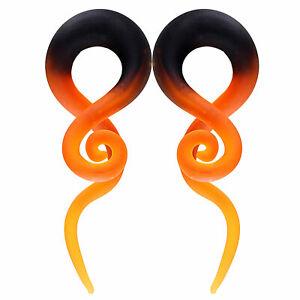 BodyJ4You 2PC Glass Ear Tapers 4G-16mm Handmade Gauges Body Piercing Jewelry Set