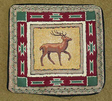 North Woods Deer Silhouette Tapestry Pillow Shell