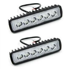 2X 6 INCH 18W LED WORK LIGHT BAR SPOT BEAM OFFROAD DRIVING FOG 4WD LAMP UTE SUV