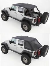 07-18 soft top Jeep Wrangler UNLIMITED BLACK TINT Bowless top comes w/ hardware