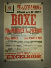 Affiche Ancienne SPORT; BOXE, VAN DE MEULEBROUCK/PONCEBLANC, original/authentic