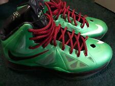Nike Lebron X cutting jade size 11