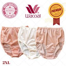 Wacoal Panties Nylon Briefs Lacy Satin Hi-Waist Knickers Underwear Plus Size 2XL
