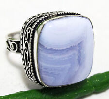 53cts Nice Ring Botswana Lace Agate Gemstone 925 Sterling Silver Plated Size 9.5