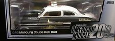 AUTO WORLD DIECAST 1:18 SCALE BLACK and WHITE 1949 MERCURY RAT ROD POLICE CAR