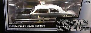 1949 MERCURY RAT ROD POLICE CAR AUTO WORLD 1:18 SCALE DIECAST METAL MODEL CAR