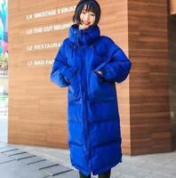 Women Jacket Cotton Padded Coat Winter Outwear Overcoat Loose Long Parka Casual