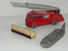 Dinky lot of 3 FIRE ENGINE THUNDERBOLT TRAIN - 955 / 798 / 23M PRE WAR