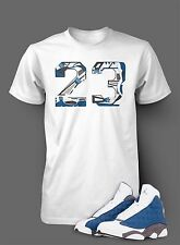 T Shirt to Match AIR JORDAN 13 FLINT Shoe White T Short Sleeve Pro Club Graphic