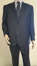 Men's Premium Quality Black PinStripe Modern Fit Dress Suits Brand New Suit 38 R