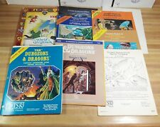 Vintage TSR Dungeons and Dragons Modules and Books Lot Expert Rules X1 S2 G1-2-3