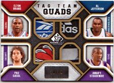Gasol/ Amare/ Jefferson/ Brand SP Game Used Quad Tag 10