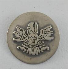 Old Taxco Mexico Eagle Glyph Pin Brooch Aztec Style 980 Silver ESR E.S.R VTG