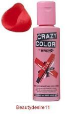 Crazy Colour Semi Permanent Hair Dye 100ml  Fire Red 56