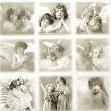 4x Vintage Angels Paper Napkins for Decoupage Craft