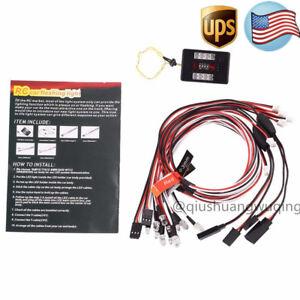US LED Flashing Light Brake+Headlight+Signal PPM FM For HSP RC 1/10 Car Truck