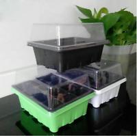 12Hole Plant Seed Grow Box Nursery Seedling Starter Garden Yard Tray Plastic Kit