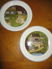 "2 Bobbi Becker Pfaltzgraff ""A Country Summer"" First Edition Plates"