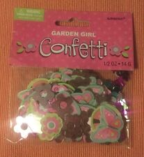 GARDEN GIRL FOIL CONFETTI Birthday Party Flowers Decorations Hearts Butterfly