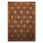 "5'6"" x 8'6"" Nourison Handmade Wool & silk Oriental Area Rug Traditional Brown"