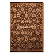 "5'6""x8'6"" Nourison Handmade Wool &real silk Persian Area Rug  Design REG05 CHO"