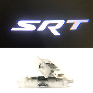 2x 3D SRT Logo LED Door Courtesy Laser Projector Light For Dodge Challenger SRT