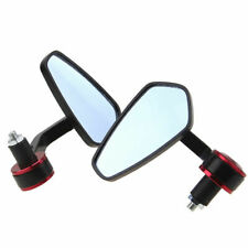"""Motorcycle 7/8"""" Handle Bar End Rearview Mirrors fits Honda Yamaha Street Fighter"""