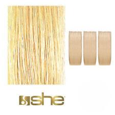 Extension prolungamento Capelli veri lisci Clip 3 Fasce She THREEASY 50-55 cm 1b Nero