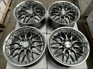 "17"" Wheels Rims Mesh Gun Metal 5x120 BMW 318 320 323 325 328 340 Pontiac G8 GTO"