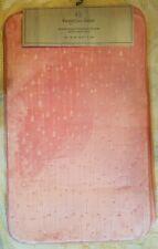 "Nwts 2 Pc Set Kingston Lane Pink Embossed Memory Foam Bath Mats 21"" X 34"""