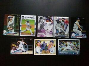 Lot of (8) Clayton Kershaw cards - LA Dodgers