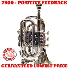 NEW MINI POCKET TRUMPET FOR SALE N/P PROFFESIONAL TRUMPET W/HARD CASE & MP