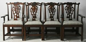 """Eldred Wheeler Chippendale Style Cherry dining chairs Set of 8 Bench Made """"Rare"""""""