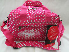 RYANAIR 2ND SIZE CARRY ON BAG [ PINK SPOTS  /BOARDING BAG/ SMALL HOLDALL