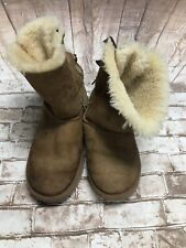 Ugg Bailey Bow Size 5 Chesnut Boots Sheepskin Suede