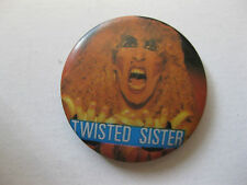 RARE VINTAGE TWISTED SISTER  BUTTON