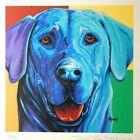Michelle Mardis Artist Signed & Numbered Limited Ed Art Print Blue Dog Framed