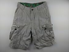 Hollister Men's Beige Khaki Cargo Cotton Shorts Size 30