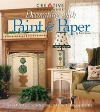 Decorating with Paint and Paper by Karin Strom-Sponge Stencil Marble Stripe Gild