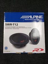 "SWR-T12 ALPINE TYPE-R 12"" SHALLOW SUBWOOFER SLIM SUB CAR AUDIO BASS SPEAKER NEW"