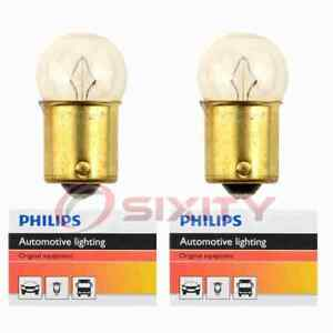 2 pc Philips License Plate Light Bulbs for Ford Bronco Country Sedan Country sa