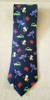 Alynn SILK Neck Tie Nature's Colorful Insects Grasshopper Bee Dragonfly Ladybug