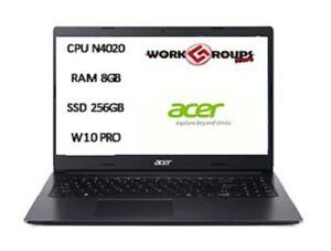 NOTEBOOK ACER N4020 8GB RAM 256GB SSD 15.6 W10 PRO PN:NX.EFTET.00U
