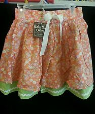 NWT Matilda Jane Hello Lovely VALENCIA Skirt Coral Green Floral Ruffle SIZE 8