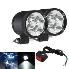 2x 40W Fernstrahl Scheinwerfer Motorrad Arbeit LED Nebelleuchte Lampe + Schalter