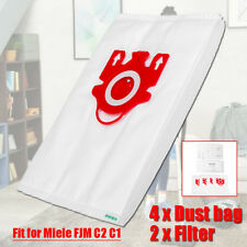 4Pcs Vacuum Cleaner Dust Bag+2 Filter Cleaning Accessories For Miele FJM C2 C1