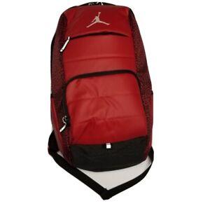 Nike Air Jordan Jumpman Bred Backpack Gym Red Black Elephant Print 9A1640-RK2