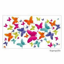 nikima 004 Wandtattoo bunte Schmetterlinge Kinderzimmer Mädchen Baby gelb pink